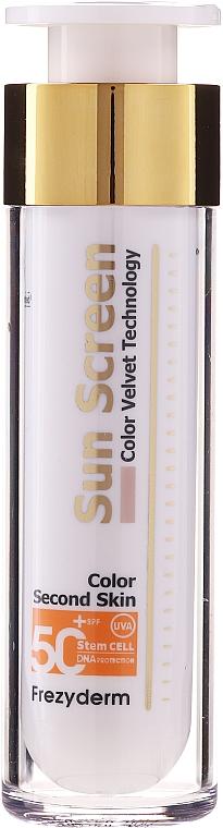 Солнцезащитный крем для лица - Frezyderm Sun Screen Color Velvet Face Cream SPF 50+