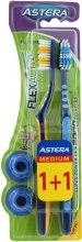 Духи, Парфюмерия, косметика Зубная щетка - Astera Flex Active 1+1 Medium