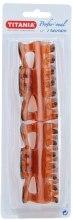 Духи, Парфюмерия, косметика Заколки для волос 8.5см, 2шт., коричневые - Titania