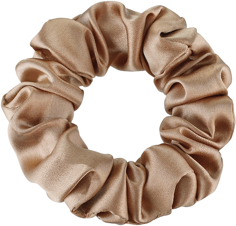 """Резинка для волос из натурального шелка, золотая """"Midi"""" - Makeup Midi Scrunchie Gold"""