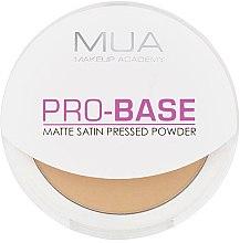Духи, Парфюмерия, косметика Компактная матирующая пудра для лица - MUA Pro-Base Matte Satin Pressed Powder