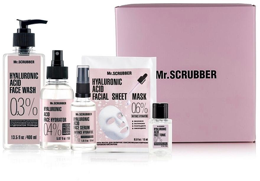 "Набор - Mr.Scrubber ""Hyaluronic acid"" (gel/400 ml + tonic/30 ml + spray/150 ml + serum/30 ml + sh/mask/15 ml)"