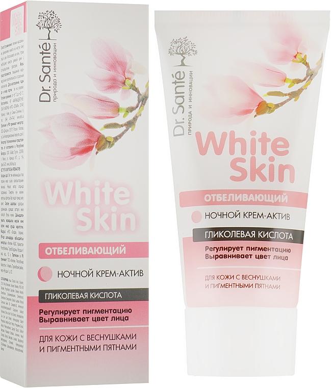 Отбеливающий ночной крем для лица - Dr. Sante White Skin