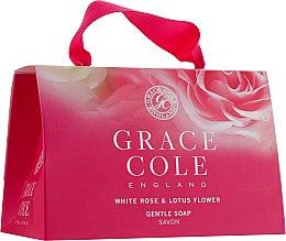 Духи, Парфюмерия, косметика Набор - Grace Cole Gentle Soap White Rose & Lotus Flower (b/soap/2х75g)