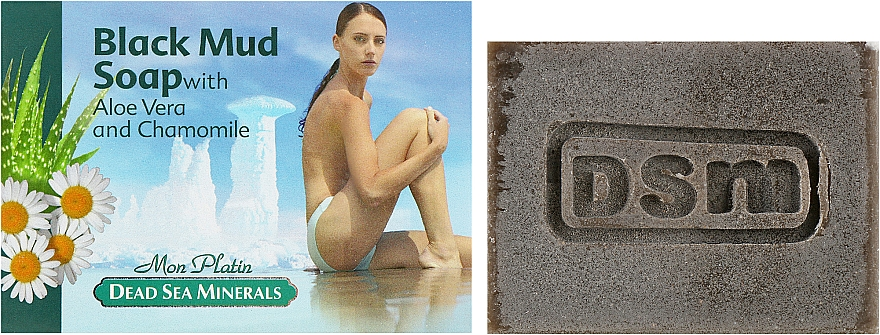 Мыло на основе натуральной грязи для лица и тела - Mon Platin DSM Black Mud Soap
