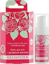 Духи, Парфюмерия, косметика Крем для век с розовым маслом - Belweder