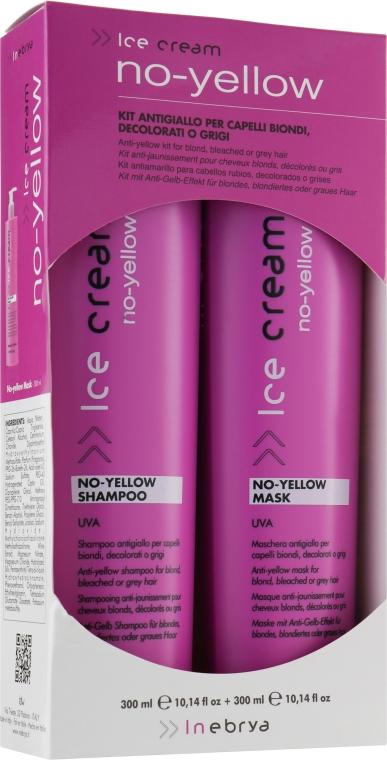 Набор - Inebrya No-Yellow Kit (shm/300ml + mask/300ml) — фото N1