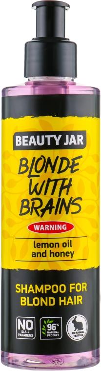 "Шампунь для волос оттенка блонд ""Blonde With Brains"" - Beauty Jar Shampoo For Blond Hair"
