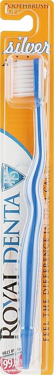 Мягкая зубная щетка с наночастицами серебра для детей и тех, кто носит зубные скобы, синяя - Royal Denta Silver Mini Toothbrush