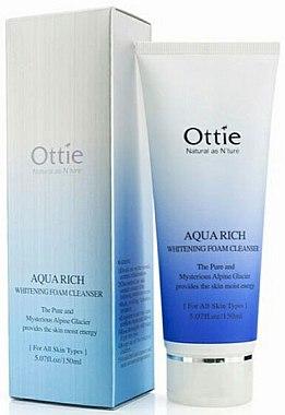 Отбеливающая пенка для умывания - Ottie Aqua Rich Whitening Foam Cleanser