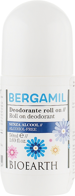 Роликовый дезодорант для тела - Bioearth Bergamil Deo Roll-on