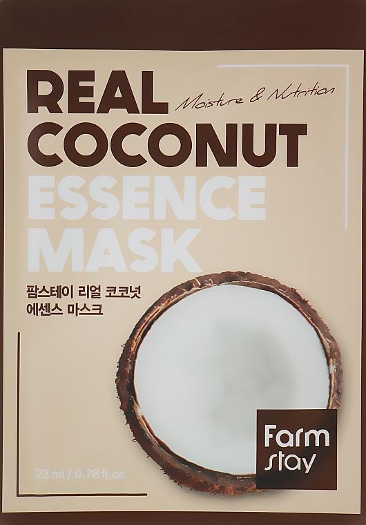 Тканевая маска для лица с экстрактом кокоса - FarmStay Real Coconut Essence Mask