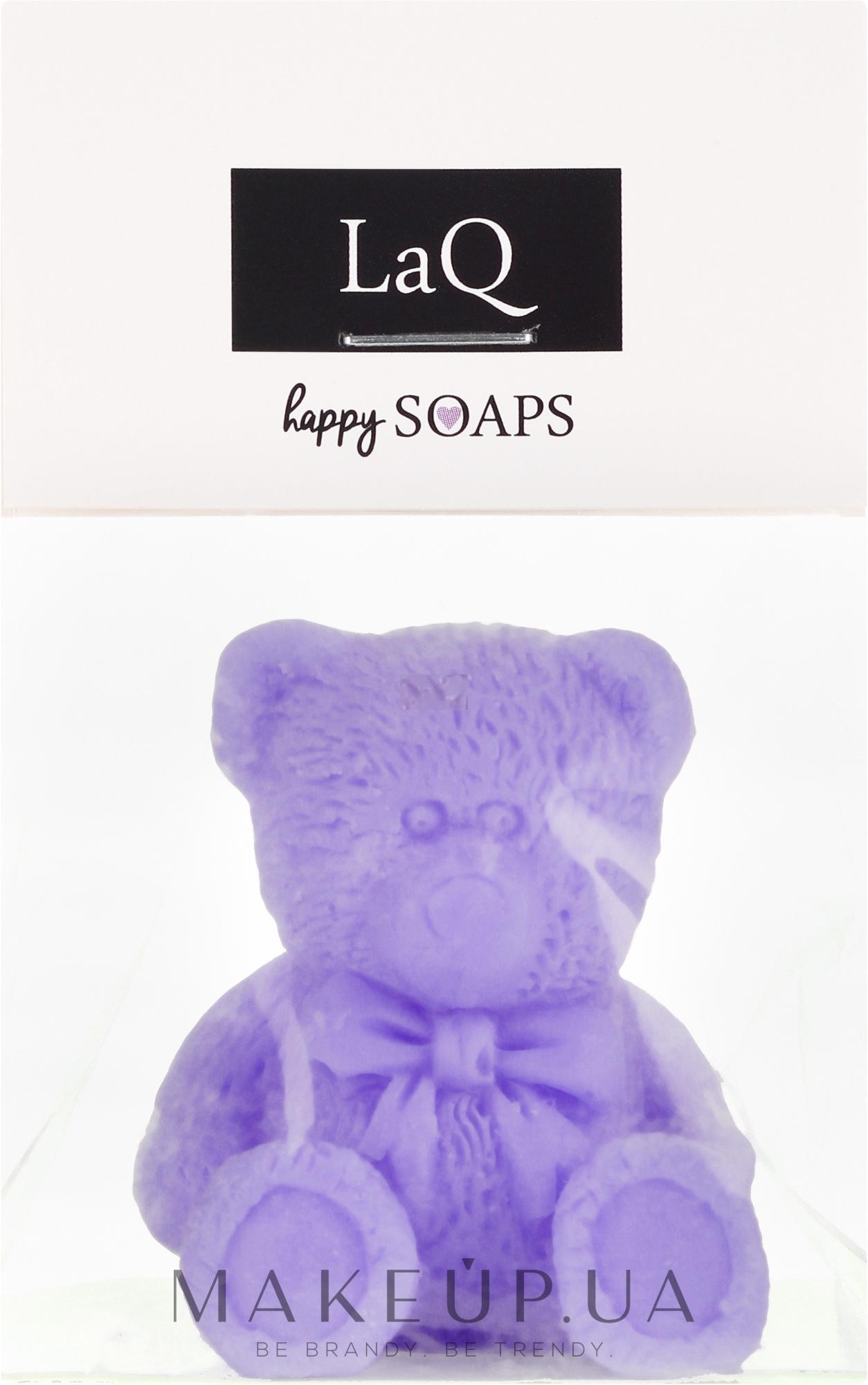 """Натуральное мыло ручной работы """"Маленький медведь"""" с ароматом лаванды - LaQ Happy Soaps Natural Soap — фото 30g"""