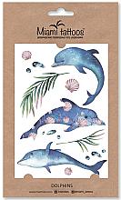 Духи, Парфюмерия, косметика Акварельные переводные тату - Miami Tattoos Dolphins