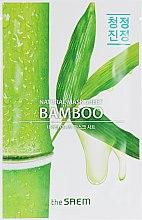 Духи, Парфюмерия, косметика Тканевая маска для упругости кожи с экстрактом бамбука - The Saem Natural Bamboo Mask Sheet