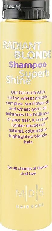 Шампунь «Звездный блеск. Сияющий блонд» - Mades Cosmetics Radiant Blonde Superb Shine Shampoo