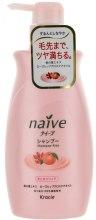 Шампунь для волос с экстрактом персика и маслом шиповника - Kanebo Naive Shampoo — фото N1