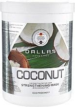 Укрепляющая маска для блеска волос с натуральной кокосовой маслом - Dallas Coconut  — фото N2
