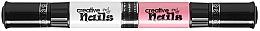 Духи, Парфюмерия, косметика Лак-карандаш для ногтей детский на водной основе, белый + розовый - Creative Nails