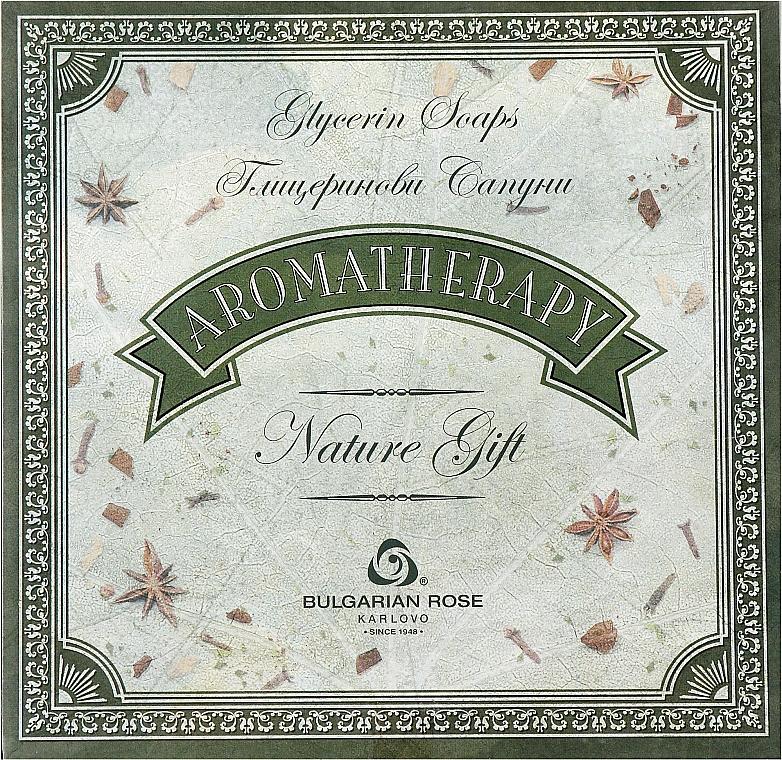 Подарочный набор натурального глицеринового мыла - Bulgarian Rose Aromatherapy Nature Soap