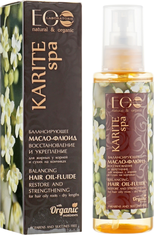 """Масло-флюид """"Для восстановления сухих кончиков волос"""" - ECO Laboratorie Karite Spa"""