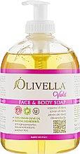 """Духи, Парфюмерия, косметика Мыло жидкое для лица и тела """"Фиалка"""" на основе оливкового масла - Olivella Face & Body Soap Violet"""