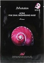 Духи, Парфюмерия, косметика Тканевая маска с муцином улитки - JMsolution Active Pink Snail Brightening Mask Prime