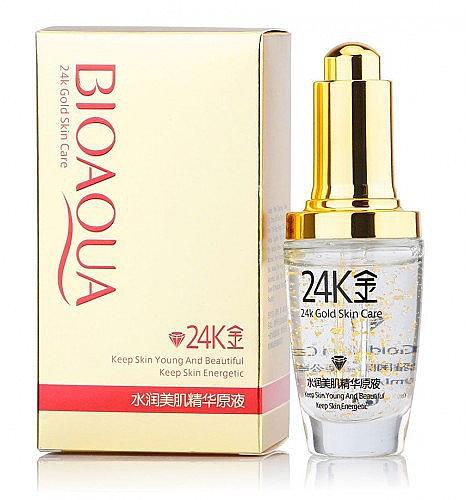 Сыворотка для лица с гиалуроновой кислотой и золотом - Bioaqua 24K Gold Skin Care