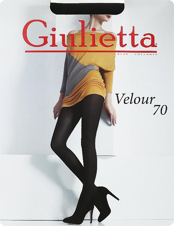 "Колготки для женщин ""Velour"" 70 Den, nero - Giulietta"