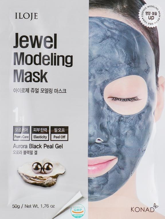 """Маска для лица """"Aurora Black Pearl"""" - Konad Iloje Jewel Modeling Mask"""