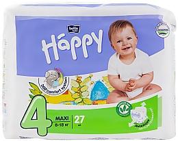 """Духи, Парфюмерия, косметика Детские подгузники """"Happy"""" Maxi 4 (8-18 кг, 27 шт) - Bella Baby"""