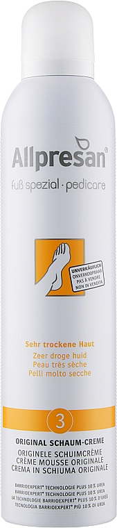 Крем-пена для очень сухой и грубой кожи стоп - Allpresan Foot Special Schaum-Creme