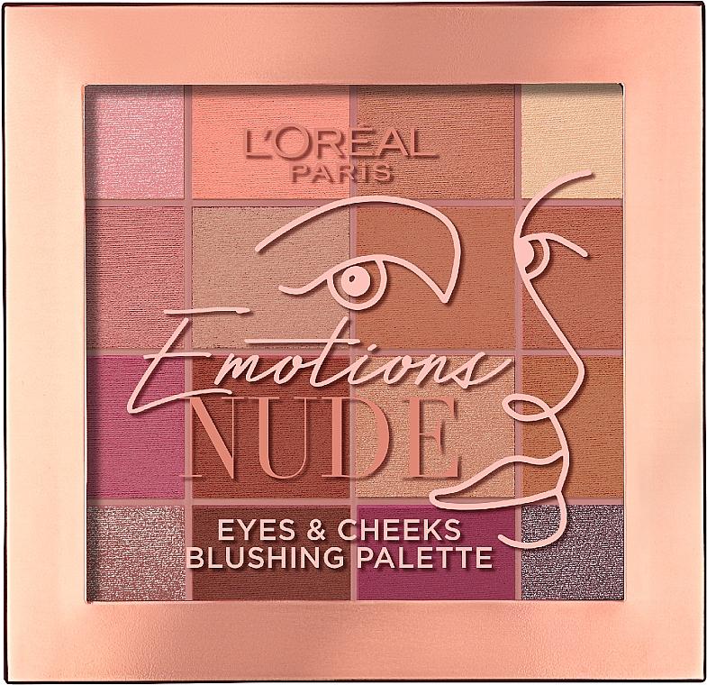 Палетка теней для век/румяна для лица - L'Oreal Paris Emotions of Nude
