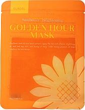 Духи, Парфюмерия, косметика Осветляющая тканевая маска для лица - Elroel Golden Hour Mask Sunflower Brightening