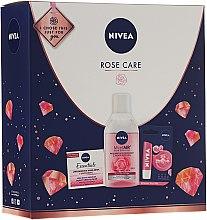 Духи, Парфюмерия, косметика Набор - Nivea Rose Care (lip/balm/5.5ml + cr/50ml + micellar/water/400ml)