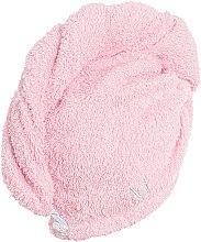 Полотенце-тюрбан для сушки волос, пудровое - MakeUp — фото N3
