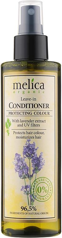 Кондиционер для окрашенных волос с экстрактом лаванды - Melica Organic Leave-in Protecting Colour Conditioner