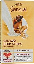 Парфумерія, косметика Пластир з воском для депіляції тіла з екстрактом грейпфрута - Joanna Sensual Gel Wax Body Strips