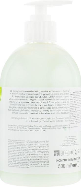 """Жидкое крем-мыло для рук """"Олива и лайм"""" - Eva Natura — фото N2"""