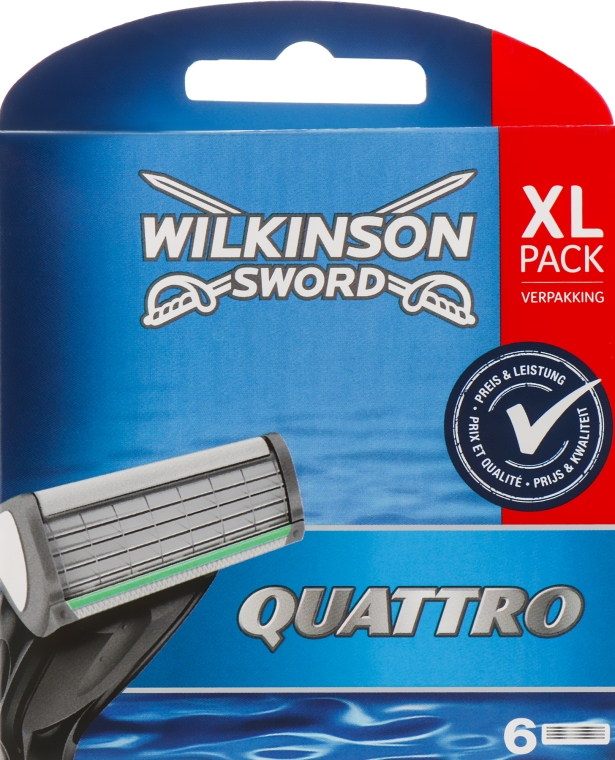 Сменные лезвия, 6 шт - Wilkinson Sword Quattro Titanium