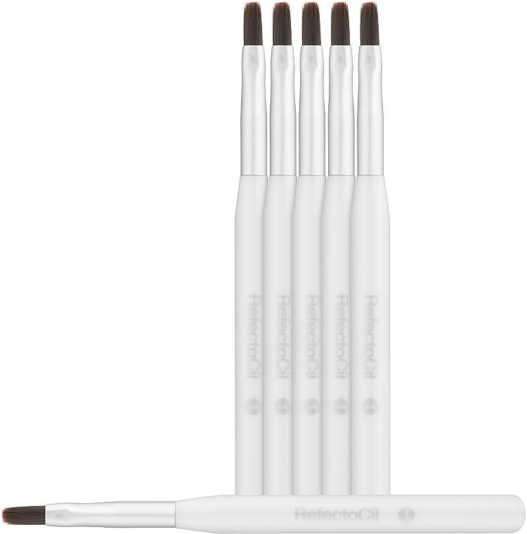Кисточка для окрашивания бровей и ресниц мягкая - RefectoCil Gold