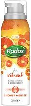 Духи, Парфюмерия, косметика Мусс для душа и бритья - Radox Feel Vibrant Blood Orange & Ginger Scent Shower Mousse