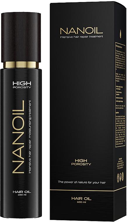 Масло для волос с высокой пористостью - Nanoil Hair Oil High Porosity