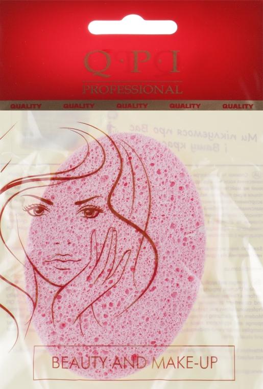 Спонж для умывания, QS-502, розовый - QPI