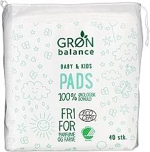 Духи, Парфюмерия, косметика Ватные диски для детей, 40 шт. - Gron Balance Baby & Kids Pads