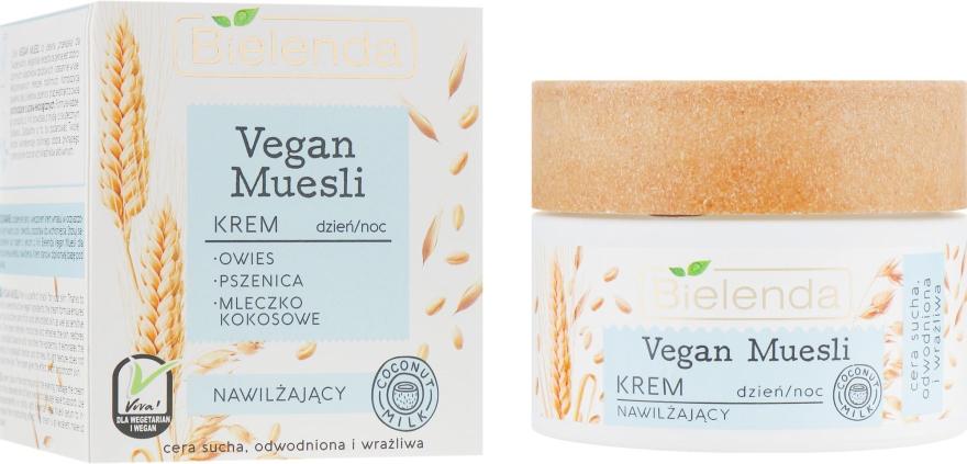 """Крем для лица увлажняющий """"Овес, пшеница, кокосовое молоко"""" - Bielenda Vegan Muesli Face Cream"""
