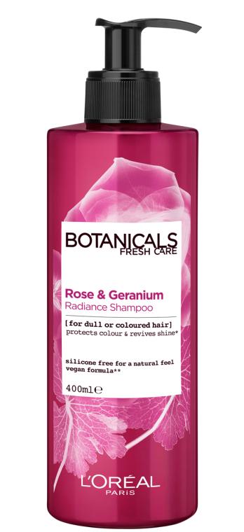 """Шампунь """"Роза и Герань, Эликсир Сияния"""" для окрашенных и тусклых волос - L'Oreal Paris Botanicals Fresh Care Rose & Geranium Radiance Remedy Shampoo"""