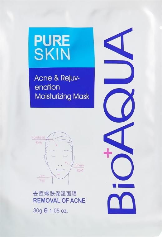 Маска для подростковой кожи - BioAqua Pure Skin Acne & Rejuvenation Moisturizing Mask