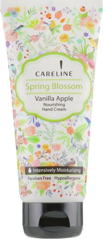 Крем для рук с ароматом яблока и ванили - Careline Spring Blossom Vanilla Apple Hand Cream