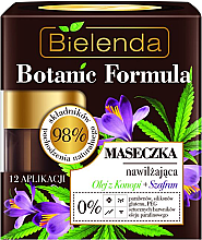 Духи, Парфюмерия, косметика Маска для лица увлажняющая - Bielenda Botanic Formula Hemp Oil + Saffron Moisturizing Mask
